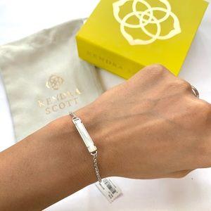 NWT Kendra Scott rhodium mother pearl bracelet